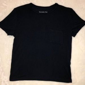 Women's Abercrombie & Fitch navy crop top